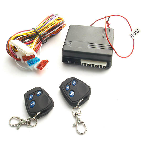 Remote Car Central Locking Kit Entry System 50m 12v With 2 Key Fobs