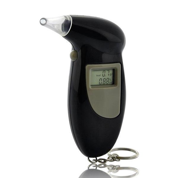 Alcoholimetro Digital de Bolsillo con Llavero Boquillas para Coche