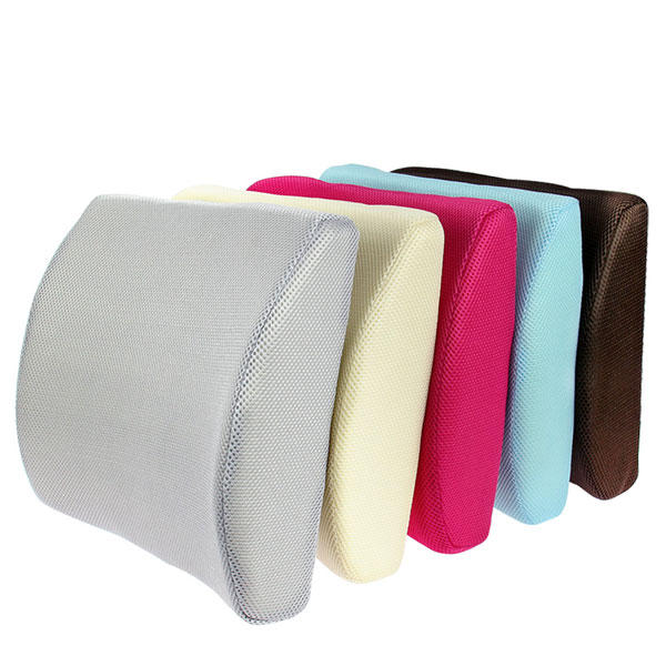 Car Lumbar Cushion Back Support Memory Foam Auto Ergonomic Pillow