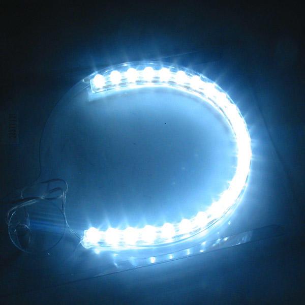 3812b1ff6 Fita de LED Flexível Luz Branca Carro 12V 24cm Adesiva Impermeavel