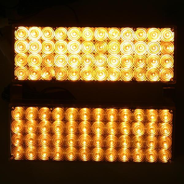 2 luces estroboscopicas led ambar laranja emergencia 12v carro for Luces emergencia led