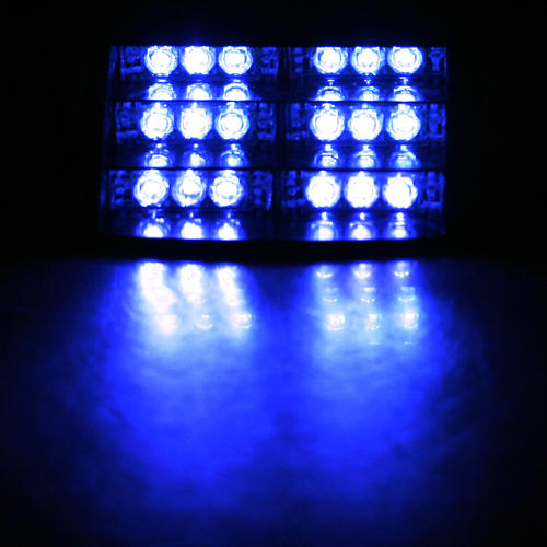 LED Dashboard Strobe Lights Blue Flashing Lighter Charger