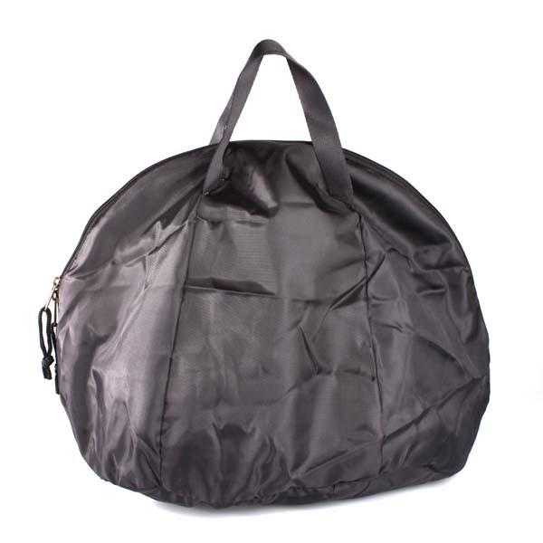 Motorcycle Helmet Bag Fleece and Nylon with Handles and Zip