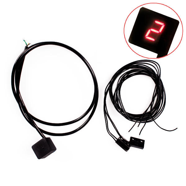 LED Motorcycle Gear Indicator Digital Universal with Shifter Sensors