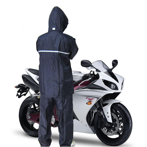 Motorcycle Rain Suit 2-Piece Waterproof in PU S - XXXL with Rainboots