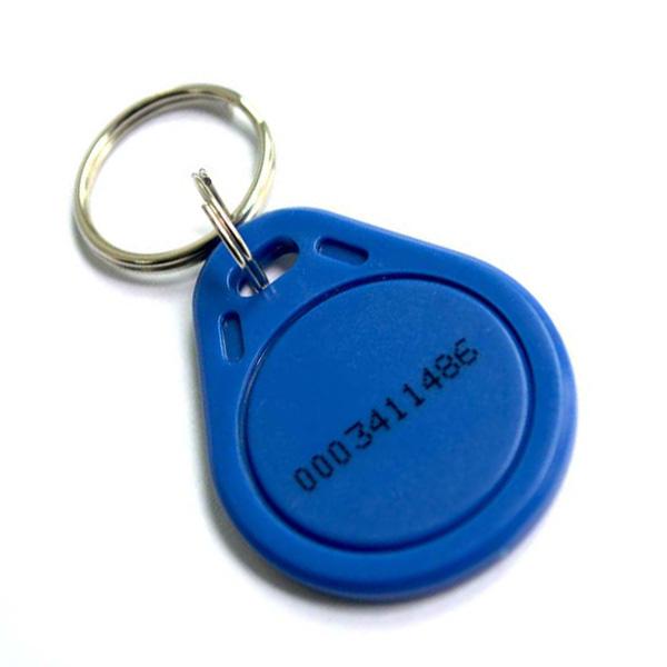 100 Llavero de proximidad EM4100 Compatible RFID de 125Khz - Azul