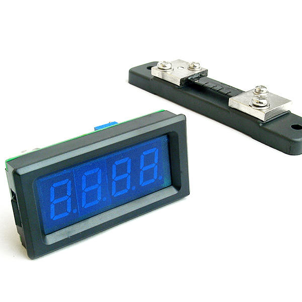 50A Digital Ammeter with Shunt Blue LED for Car System Monitoring