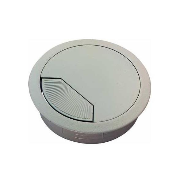 12 Pasacables Blancos Plastico 60mm 50mm Tapa Cable Mesa Escritorio