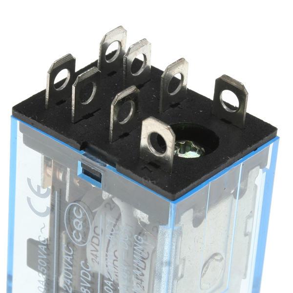 5x Rele Plug In Dpdt 8 Pin Bobina 24v Relevadores Equipo