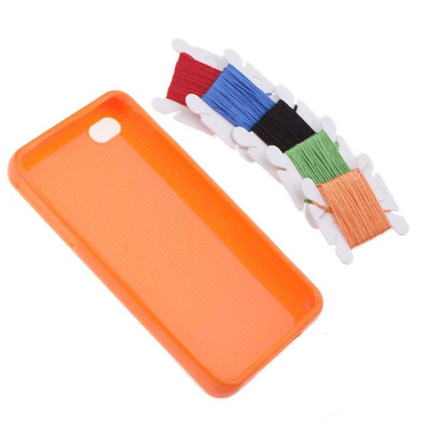 Funda Iphone 4 punto de cruz para Personalizar DIY HUM - azul