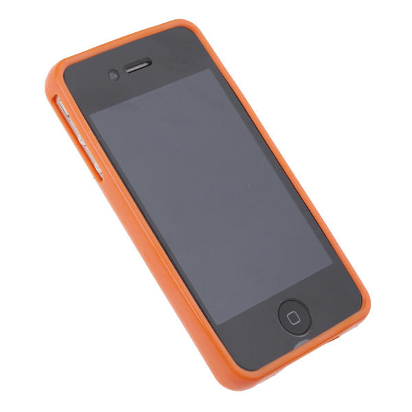 Funda iphone 4 punto de cruz perforada para personalizar naranja - Personalizar funda iphone ...