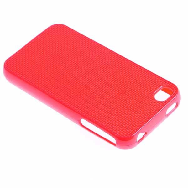 Funda iphone 4 perforada punto de cruz para personalizar rojo - Personalizar funda iphone ...