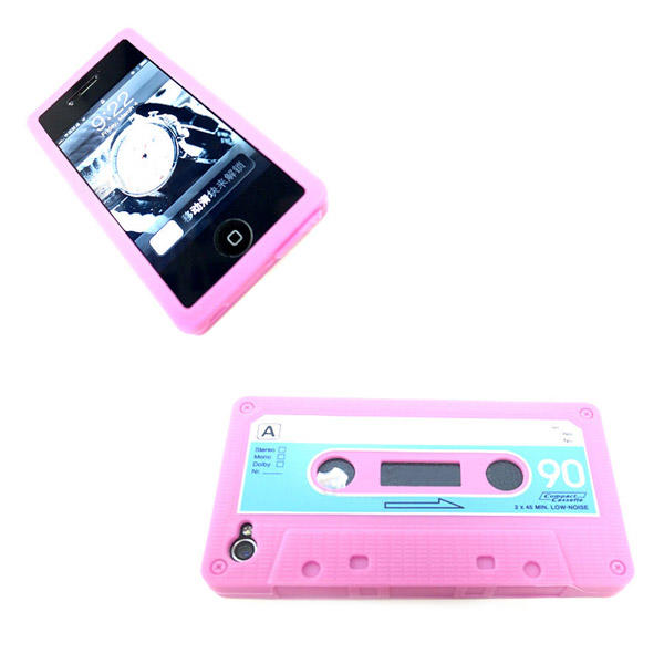12x Funda iPhone 5 Cassette Retro Vintage en Silicona - 11 Colores