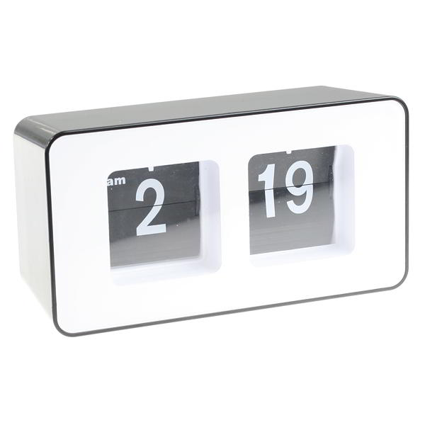 Retro flip clock 70 39 s style autoflip desk bedside office White flip clock