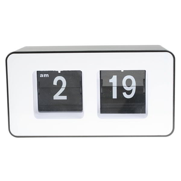 Retro flip clock vintage 70s style for desk home white White flip clock