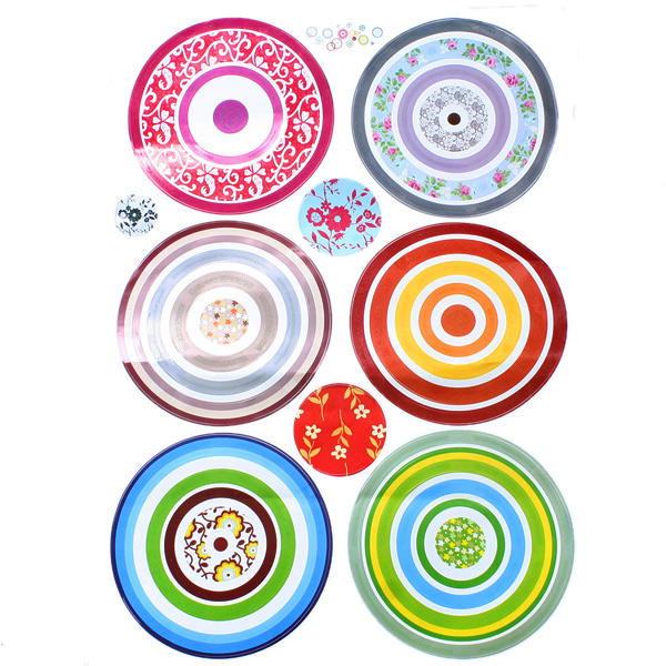 48 Vinyl Wall Decals Circle Stickers for Home Deco Bedroom