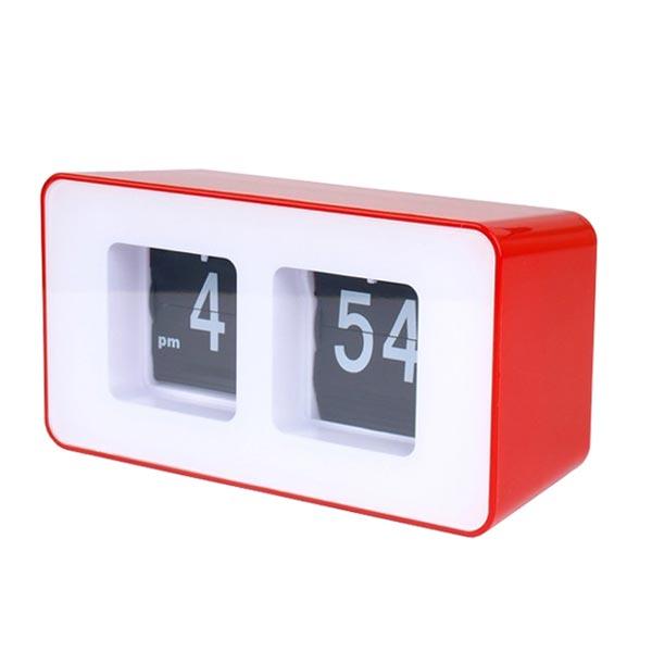 horloge flip flap classique d coration r tro 70 39 s rouge. Black Bedroom Furniture Sets. Home Design Ideas