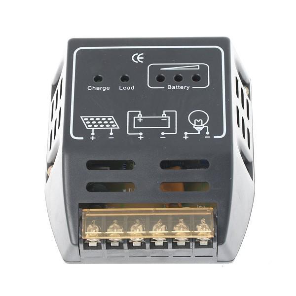 regulateur solaire de charge 12v 24v 10a pour panneau pv batterie. Black Bedroom Furniture Sets. Home Design Ideas