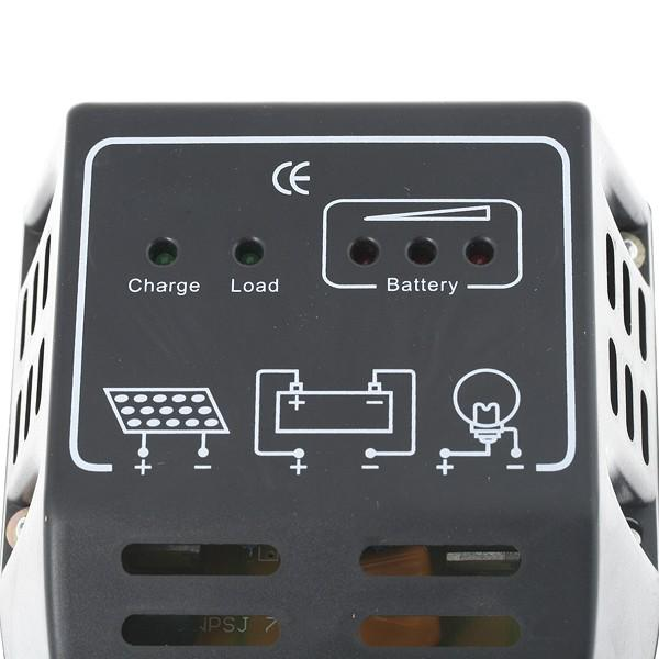 regulateur solaire de charge 12v 24v 10a pour panneau pv batterie. Black Bedroom Furniture Sets. Home Design Ideas
