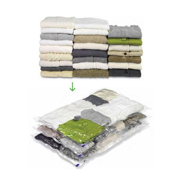4 sacs de compression rangement sous vide draps de lit v tements. Black Bedroom Furniture Sets. Home Design Ideas