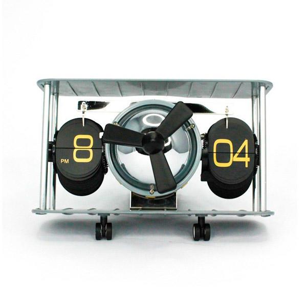 horloge flip avion retro decoration table bureau cadeau