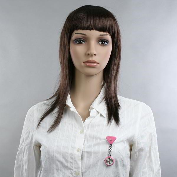 12x de Relojes de Enfermera tipo Broche en Motivo Trapecio Rosa