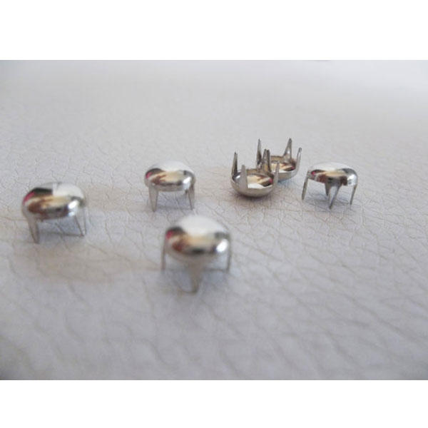 500 Round Clothing Studs Silver Metal Rivets Shoes Bags 4 5 6mm