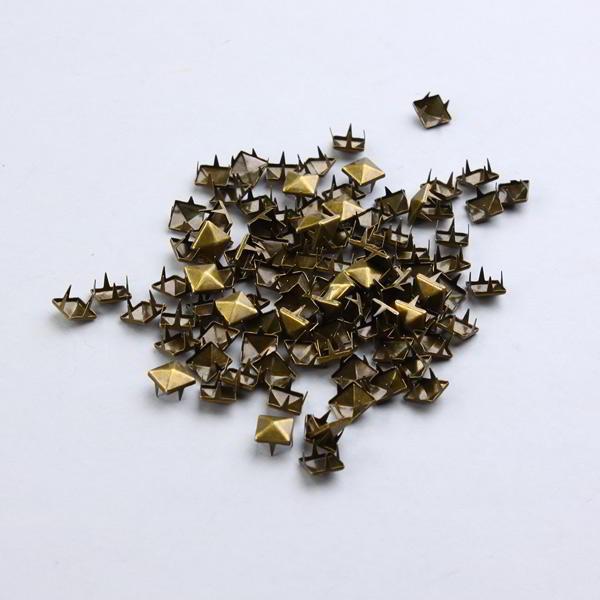 100 Tachuelas para ropa 9mm apliques decorativos en bronce pirámide