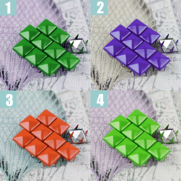 500 Tachuelas de Colores para Ropa Taches Apliques decorativos 12mm