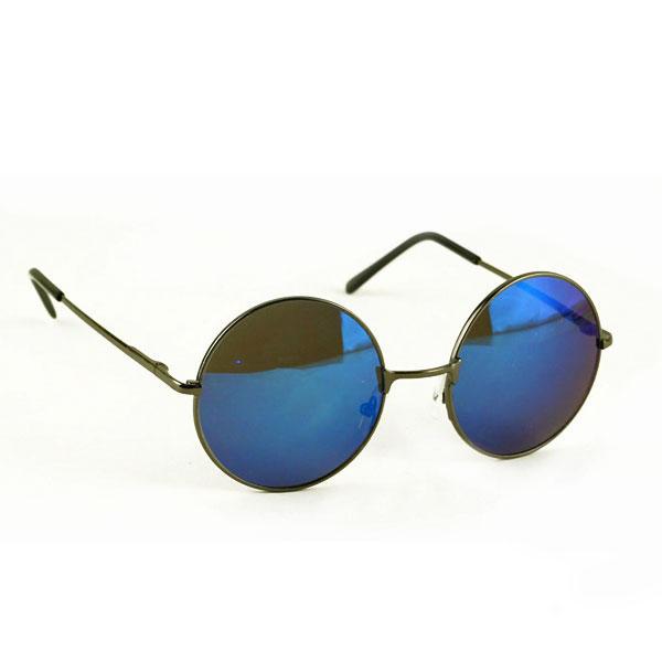 Occhiali da sole tondi retro vintage specchio metallici for Occhiali tondi da vista vintage