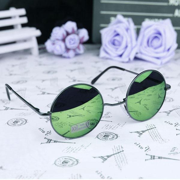 07ff1b7b0b270 Lunettes de Soleil Rondes Vintage 60s 70s John Lennon Reflechissantes