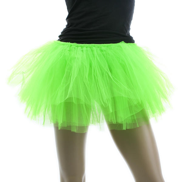 Neon Green Tutu For Ballet Dancing Costume Carnival Halloween Adult