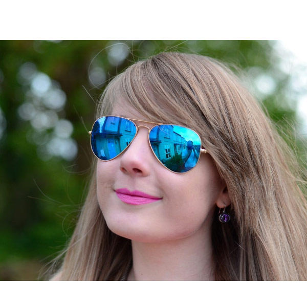 f830802193787 Oculos de Sol Aviador Espelhado Metálico Unissex Retro Aviator