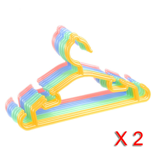 30 ganchos ropa infantil de plastico colores surtidos closet for Ganchos de plastico