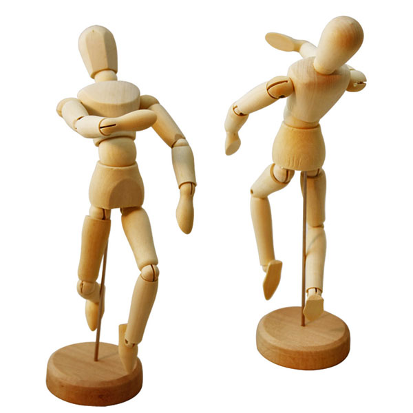 Wooden Mannequin for Artists Wooden Articulated Figure Jointed Manikin