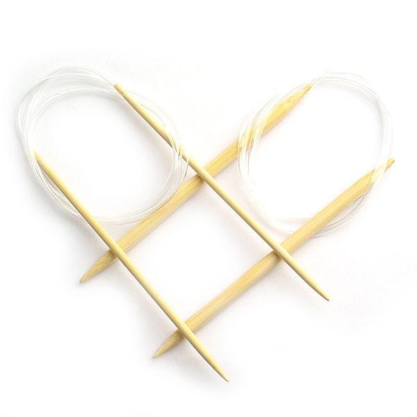 Set de 18 Agujas circulares para Punto en bambu - diferentes tamaños