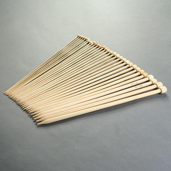 Agujas de tejer de bambú