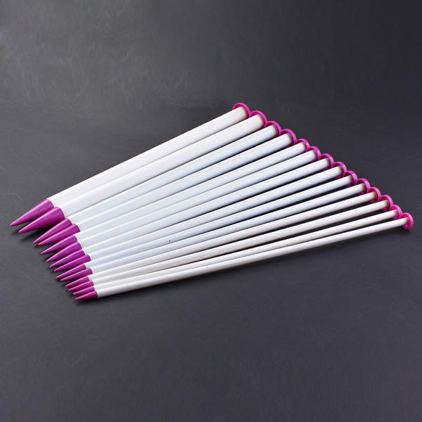 Set of 7 Pairs Jumbo Knitting Needles Plastic 40cm Thick Knits