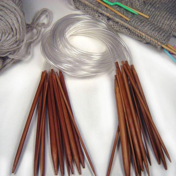 11 pares Agujas Circulares Fijas con Cable Tejido 40cm 2 - 5mm