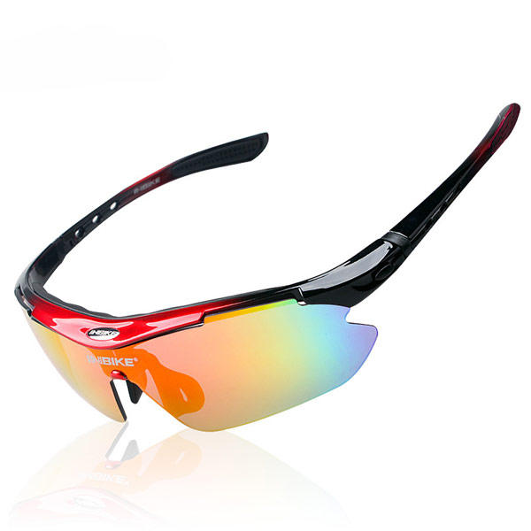 Cycling Sunglasses Kit with 5 Interchangeable Lenses Hard Case UV400