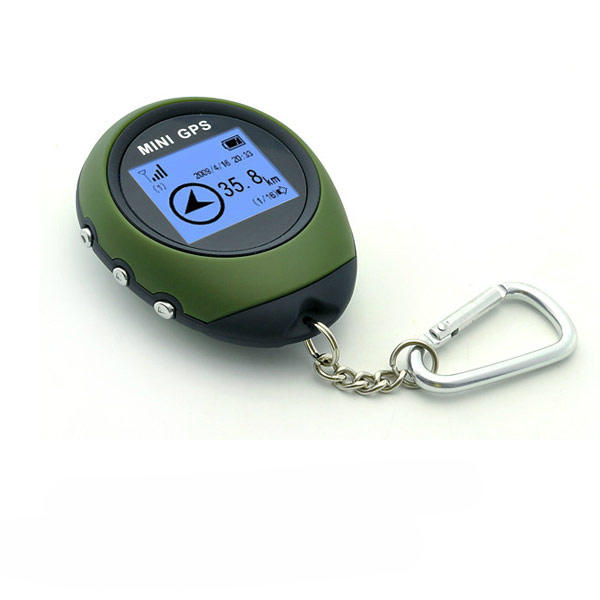 Mini GPS Receiver Keychain 16 POI for Geocaching Hiking Camping