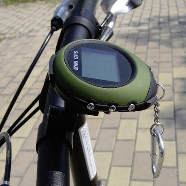 mini gps r cepteur porte cl s 16 poi pour cyclisme randonn e. Black Bedroom Furniture Sets. Home Design Ideas