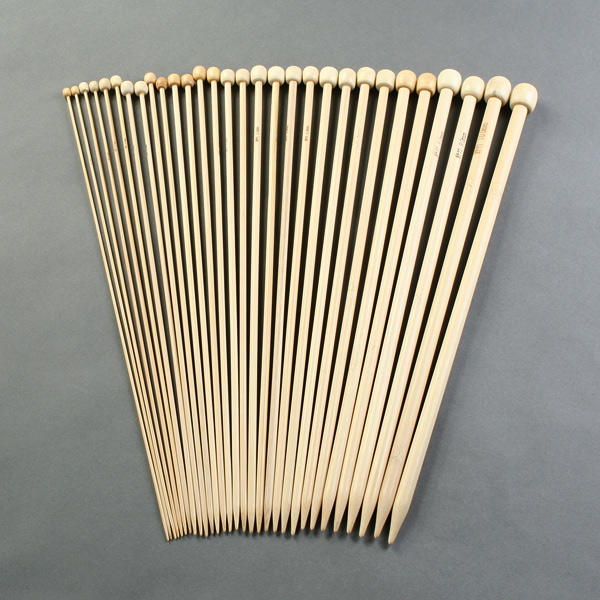 Knitting Needle Sets In Case Uk : Pair knitting needle set quot in bamboo with