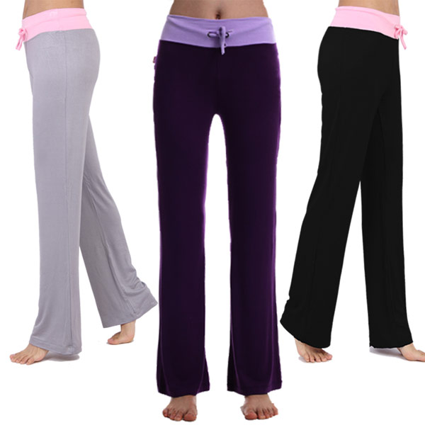 pantalon de yoga pour femme pilates gym coton elasthanne s m l xl xxl. Black Bedroom Furniture Sets. Home Design Ideas