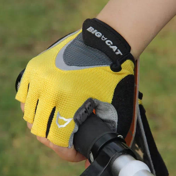 Bike Gloves Silicone Palm in Microfiber Fingerless MTB Cycling