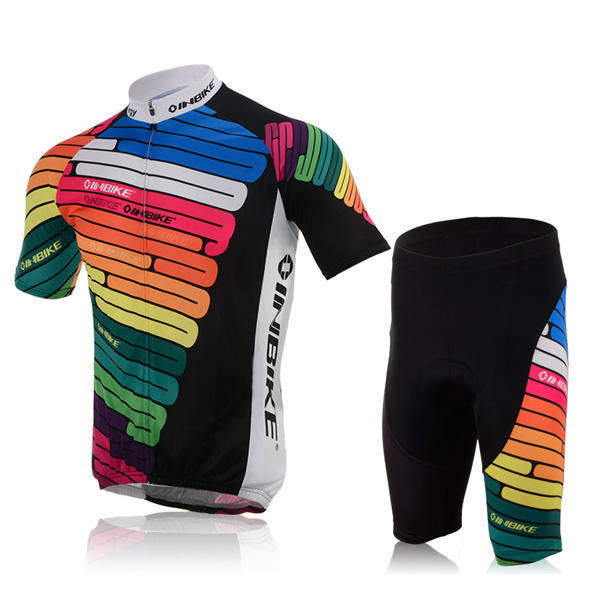 Cycling Set Shorts Jersey for Road Bike MTB All Sizes - Rainbow