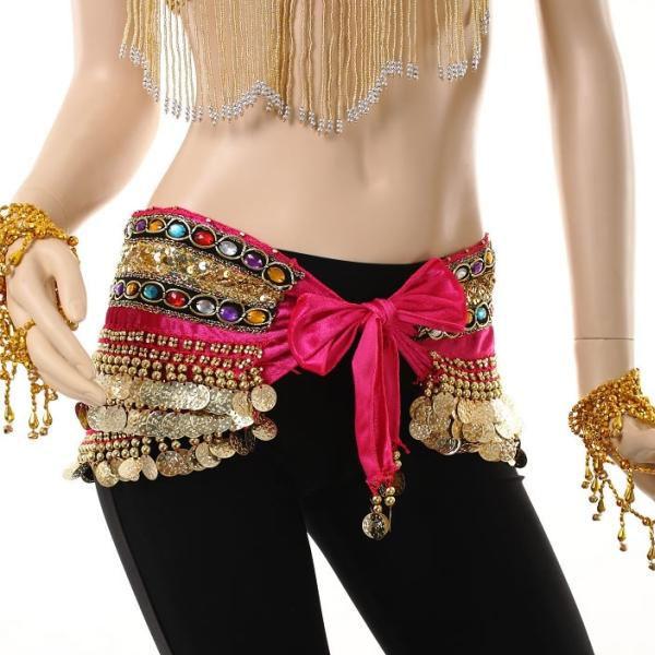 Cinturon Danza arabe ropa Danza del vientre Pañuelo Piedras Monedas