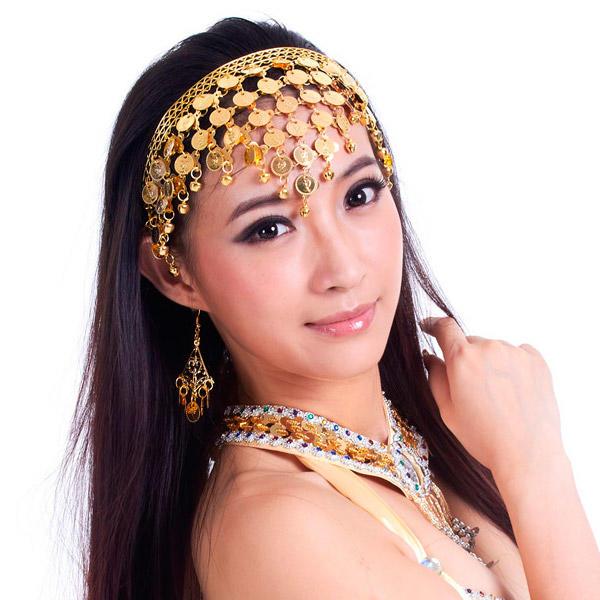 Scarpe 2018 il migliore comprare in vendita Fascia Dorata Monetine Oro Cerchietto Danza Orientale Bollywood