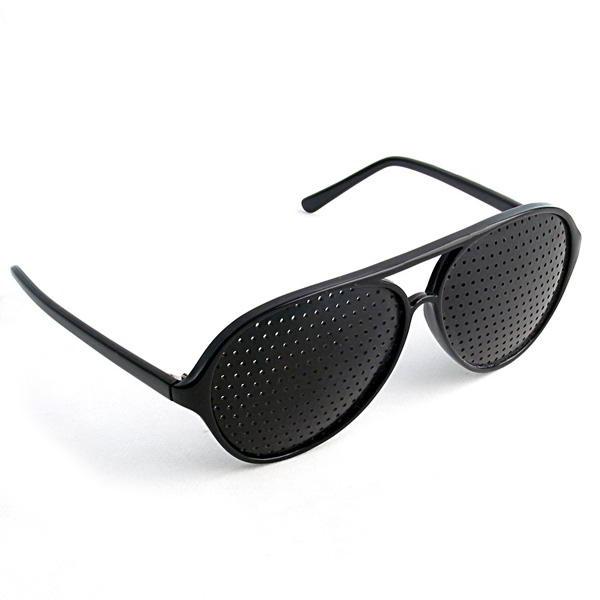 29276dad75a82 Oculos Reticulado Pinhole Terapêuticos cor Preto Aviador Plastico