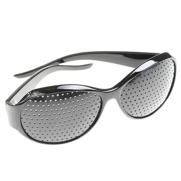 bc1e1dcdb14e0 Oculos Pinhole Reticulados Ioga para Olhos Furadinho Preto Redondo